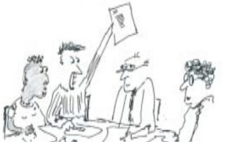Image:trustees at a board meeting cartoon